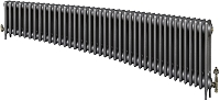 Eastgate Victoriana 3 Column 41 Section Cast Iron Radiator 450mm High x 2502mm Wide - Metallic Finish